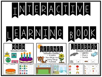Interactive Learning Book: Math, Science and Literacy (Distance Learning)