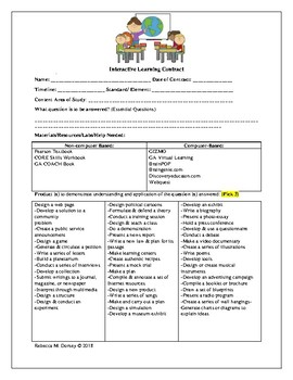 Interactive Learning Contract