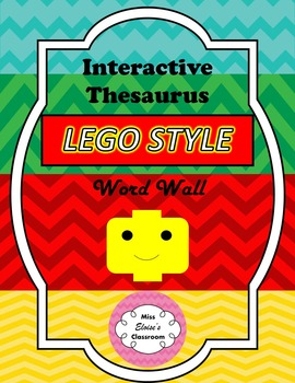 Interactive 'Lego' Style Thesaurus Word Wall