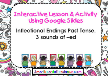 Interactive Lesson & Activity using Google Slides on  Inflectional -ed Endings