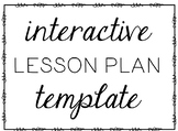 Interactive Lesson Plan Template
