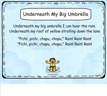 "Interactive Lesson - ""Underneath My Big Umbrella"" Song"