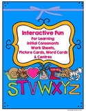 Alphabet- Interactive Printables and Mini Lessons - Ss to Zz