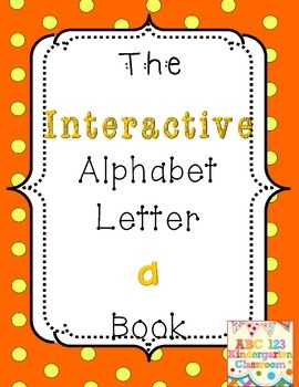 "Interactive Letter ""A"" Book Emergent Reader - FREEBIE"
