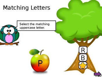 Interactive Letter Match (Uppercase to Uppercase)