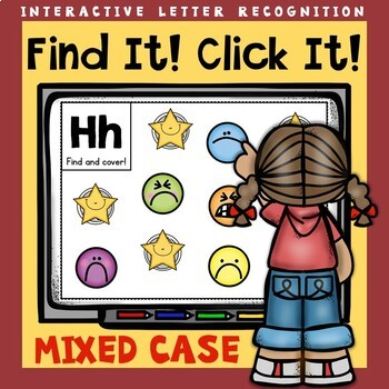 Interactive Letter Recognition Mixed Case Powerpoint Game