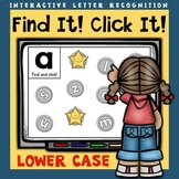 Interactive Letter Recognition Lower Case Powerpoint Game