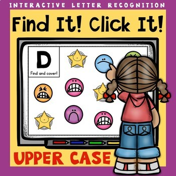 Interactive Letter Recognition Upper Case Powerpoint Game