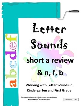 Interactive Letter Sounds - Short a review & n, f, b