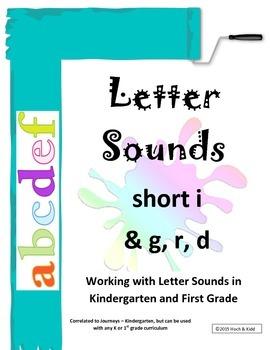 Interactive Letter Sounds - Short i & g, r, d