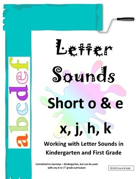 Interactive Letter Sounds - Short o & e, x, j, h, k
