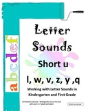 Interactive Letter Sounds - Short u, l, w, v, z, y, q