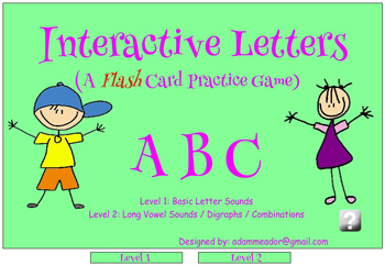 Interactive Letter Sounds and Phonics Practice Game