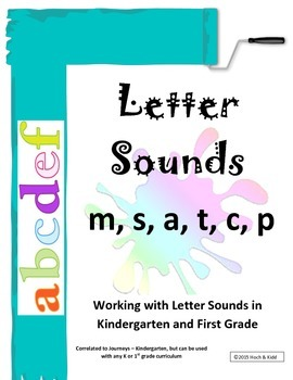 Interactive Letter Sounds - m, s, a, t, c, p