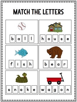 Interactive Letter & Word Workbook for Preschool and Kindergarten