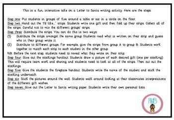 Interactive Letter to Santa Fun Writing Activity