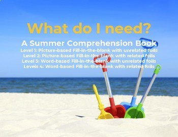 Interactive Leveled Summer Comprehension Book