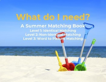 Interactive Leveled Summer Matching Book