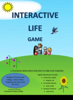 Interactive Life Game - For Group Play with 7 Careers