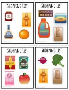 Interactive Life Skills Bulletin Board Grocery Store with Worksheets