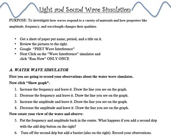 Light Sound Waves Worksheets & Teaching Resources | TpT
