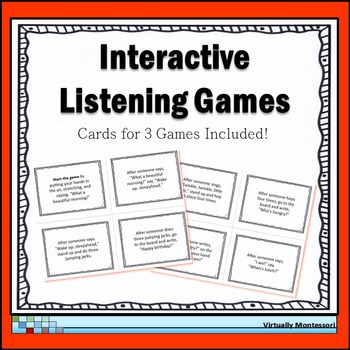 Interactive Listening Games - Icebreaker and Community Builder