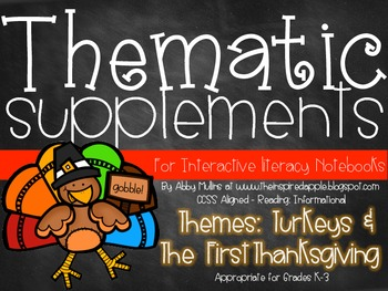 Interactive Literacy Notebook Thematic Supplements {Turkeys & Thanksgiving}