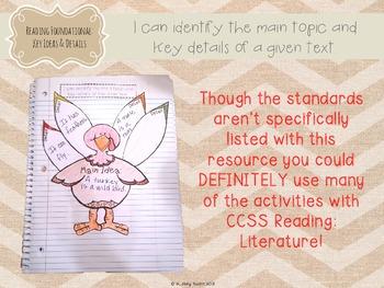 Interactive Literacy Notebook Thematic Supplements {Turkeys & Thanksgiving}