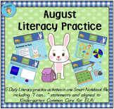 Interactive Literacy Practice for SMART Board Kindergarten August-Themed