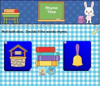 Interactive Literacy Practice for SMART Board Kindergarten August-Themed