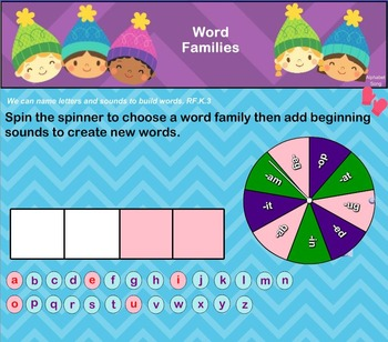 Interactive Literacy Practice for SMART Board Kindergarten January-Themed