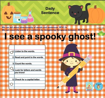 Interactive Literacy Practice for SMART Board Kindergarten October-Themed