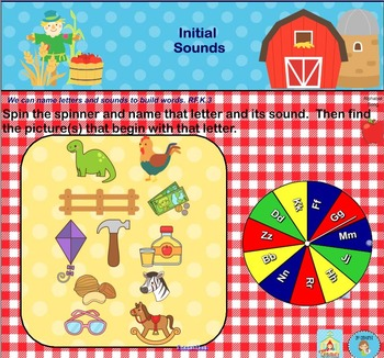 Interactive Literacy Practice for SMART Board Kindergarten September-Themed