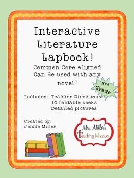 Interactive Literature Lapbook 3rd Grade Common Core Aligned