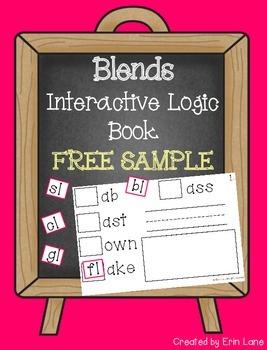 Interactive Logic Book FREE SAMPLE: Blends!