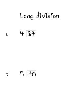 Interactive Long Division Notes