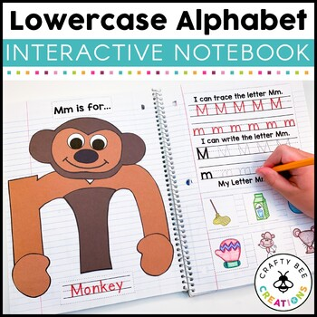 Interactive Lowercase Alphabet Notebook