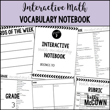 Interactive MATH Vocabulary Notebook {Grade 3}