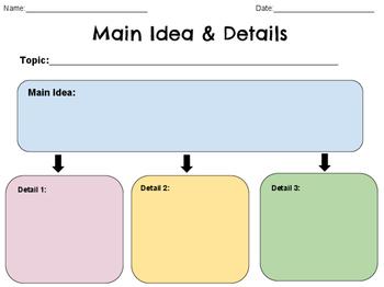 Interactive Main Idea/Details Graphic Organizer