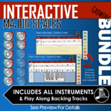 Interactive Major Scale Ninja Slides - GROWING BUNDLE SAVE $25!