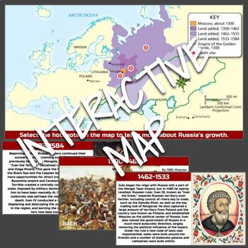 Interactive Map: Growth of Russia (1300–1584)
