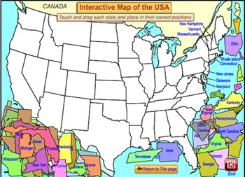 Interactive Map Of The Usa.Map Of The Usa For The Interactive Whiteboard Smartboard
