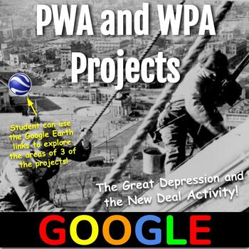 Interactive Map: PWA and WPA Projects
