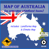 Map of Australia - for the Interactive SmartBoard and Whiteboard.