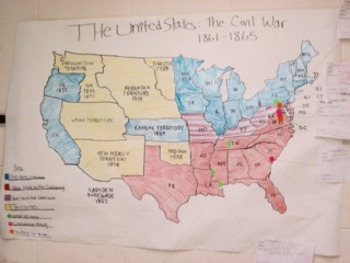 Interactive Map of Civil War Battles: Mini-Research activity | TpT on