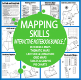 Geography Map Skills Activities Interactive Notebook Bundle – 6 Mapping Units