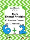 """Interactive Math 2nd Grade 12 Activities CCSS Aligned with """"I Can"""" Statements"""