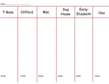 Interactive Math Activity: Clifford Character Sort