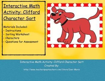 Interactive Math Activity: Clifford Character Sort