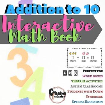 Interactive Addition Math Book- Adding to 5